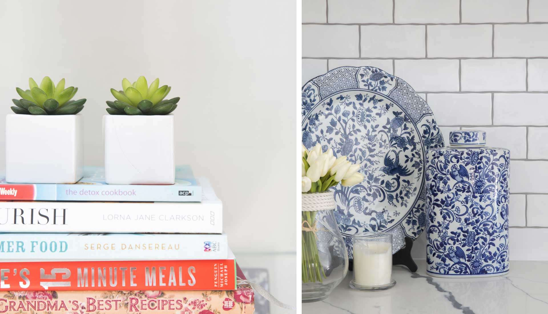 small planters recipes and blue and white chinaware design by danni
