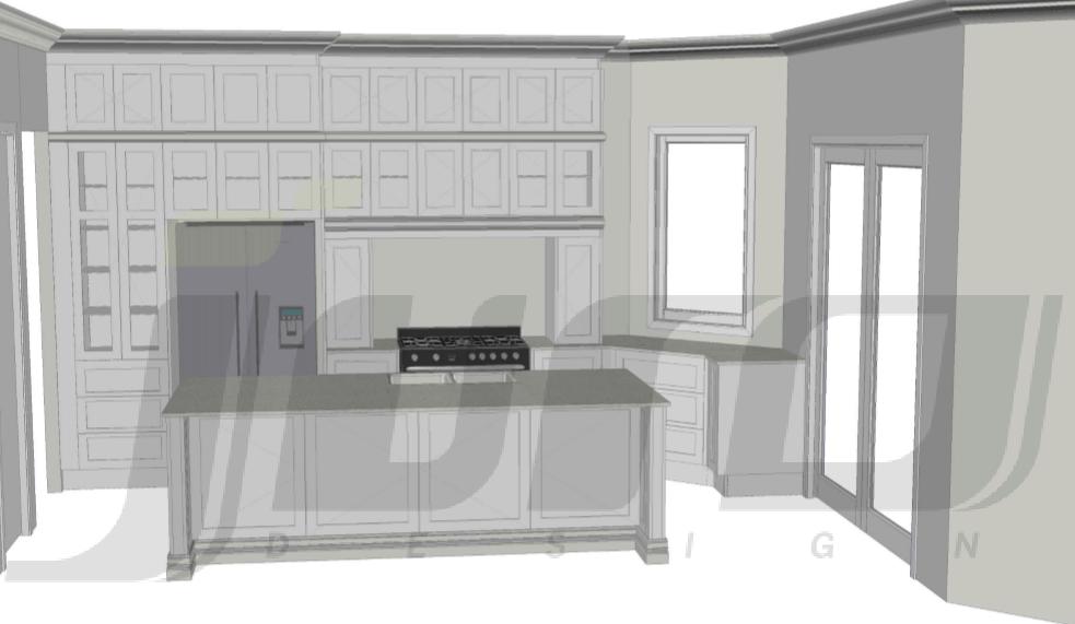 First kitchen design by Juro