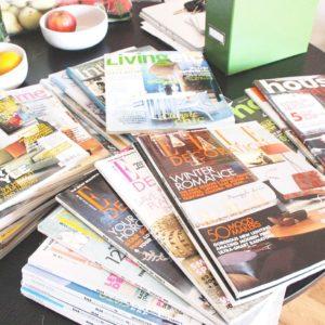 Stack of ktichen magazines