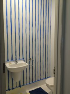 Kids toilet wall stripes tape
