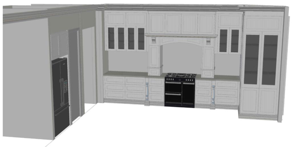 Final kitchen design by Juro