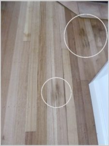 Stains all over existing flooring