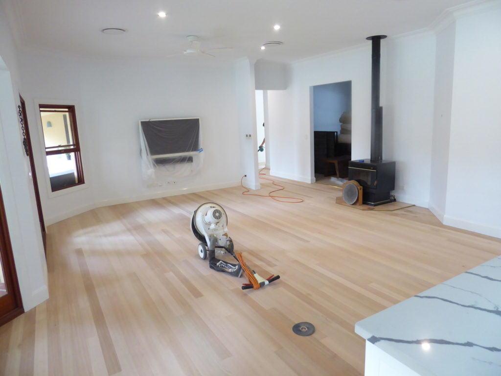 Tasmanian Oak Flooring after sanding