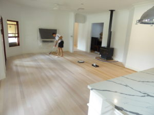 Rod from Maroochy Floor Sanding working on our floors