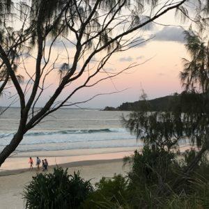 byron bay clarks beach sunset