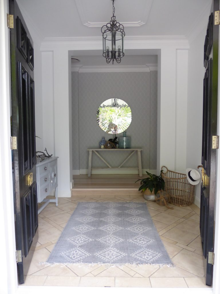 completed front door detail and interior entry