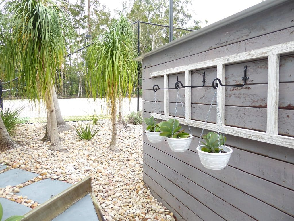 gazebo pool house vertical garden feature