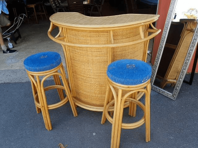 gazebo cane bar seting original