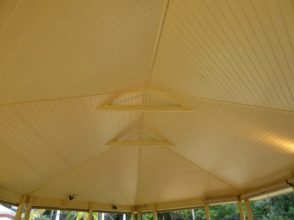 original gazebo VJ racked ceiling