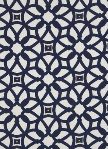 Luxe outdoor fabric Indigo Gazebo post