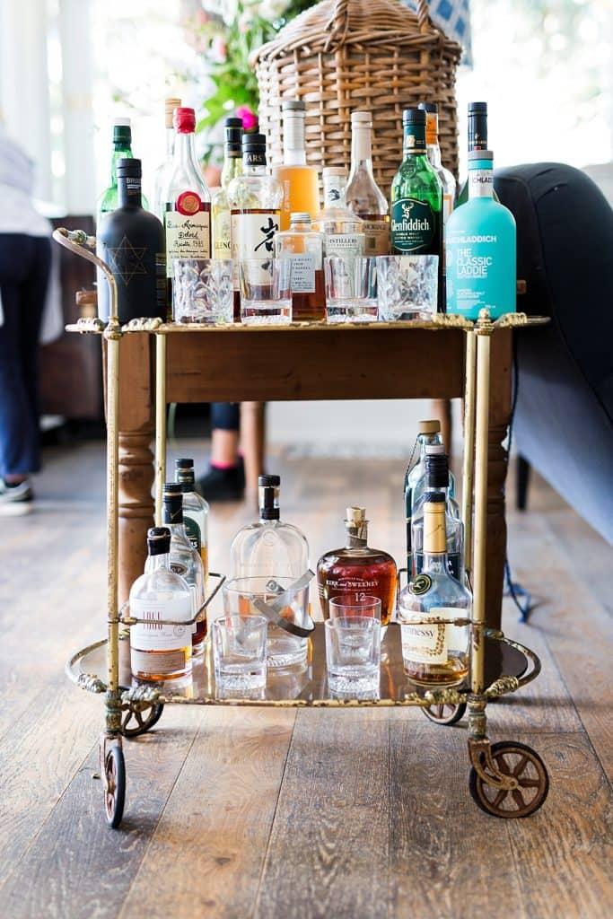 halcyon house bar cart on byron bay getaway