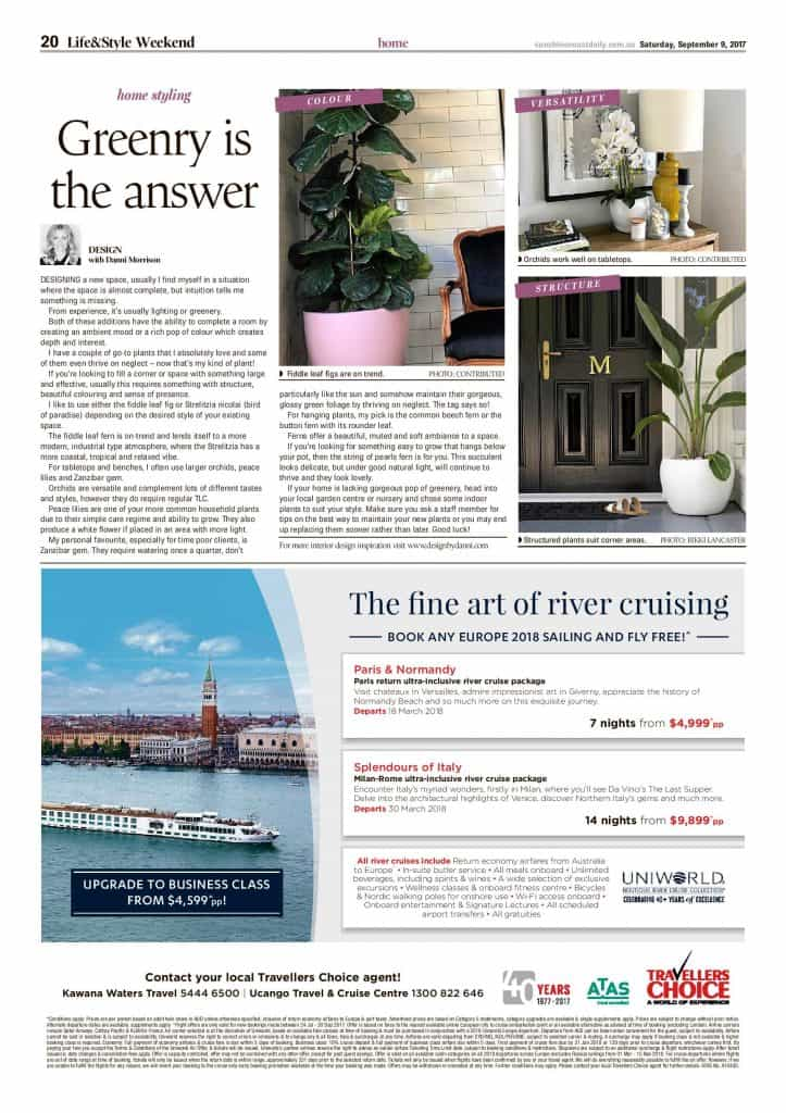 greenry is the answer press features sunshine coast daily article