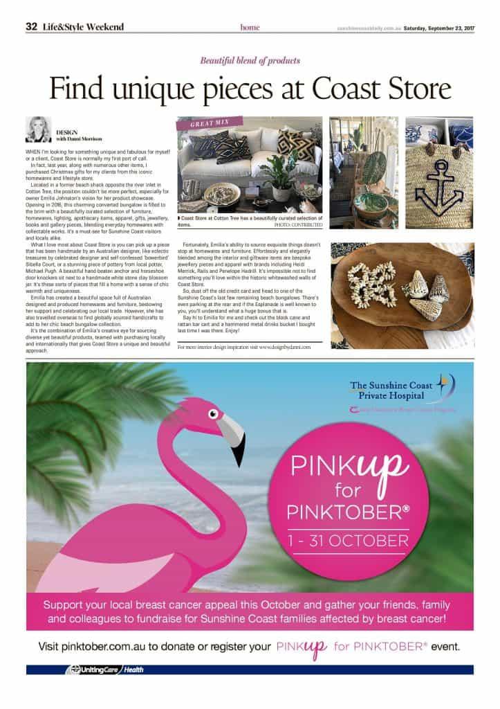 Find unique pieces at coast store press features sunshine coast daily page