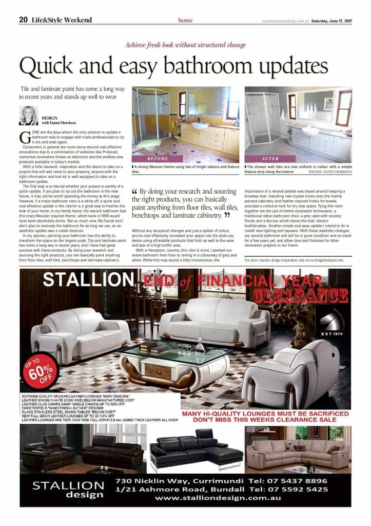 quick and easy bathroom updates press features sunshine coast daily article