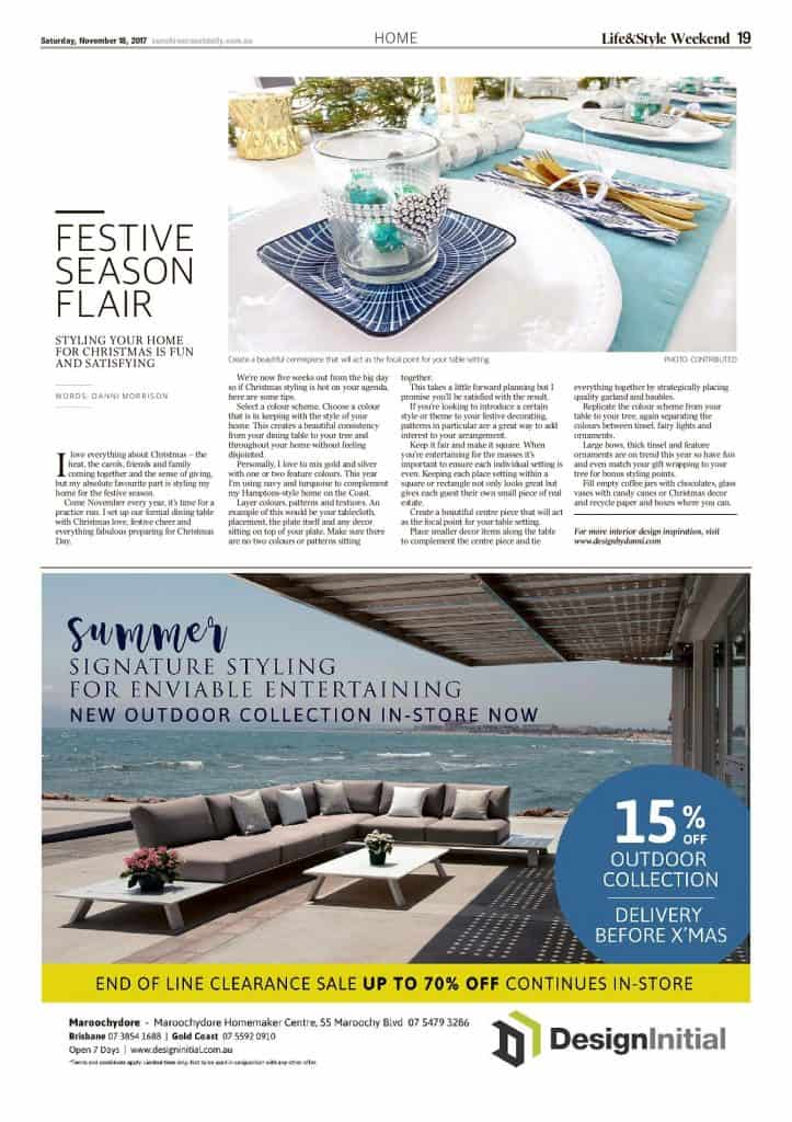 The Sunshine Coast Daily weekend edition Life and Style magazine - Festive Season Flair