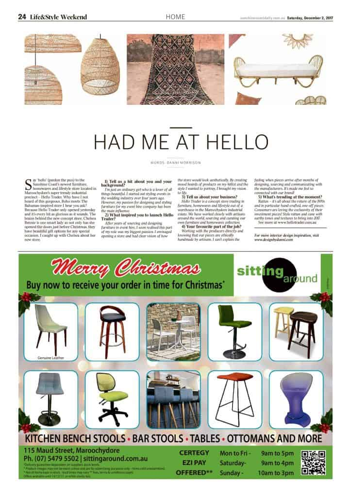 The Sunshine Coast Daily weekend edition Life and Style magazine - Had Me at Hello