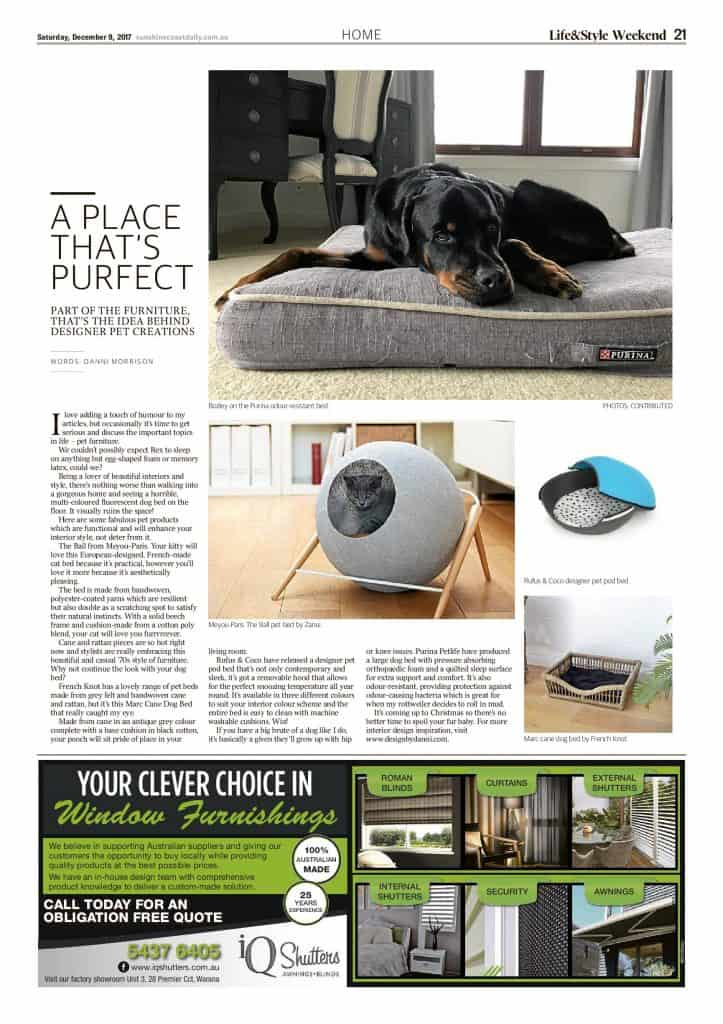 The Sunshine Coast Daily weekend edition Life and Style magazine - A Place That's Purfect