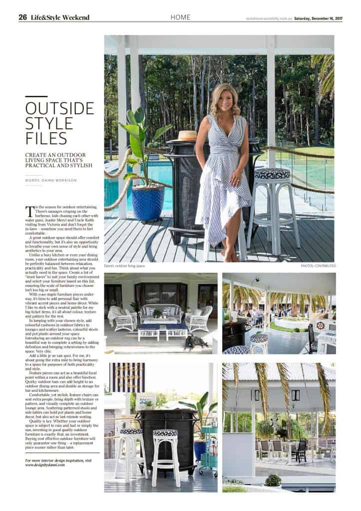 The Sunshine Coast Daily weekend edition Life and Style magazine - Outside Style Files