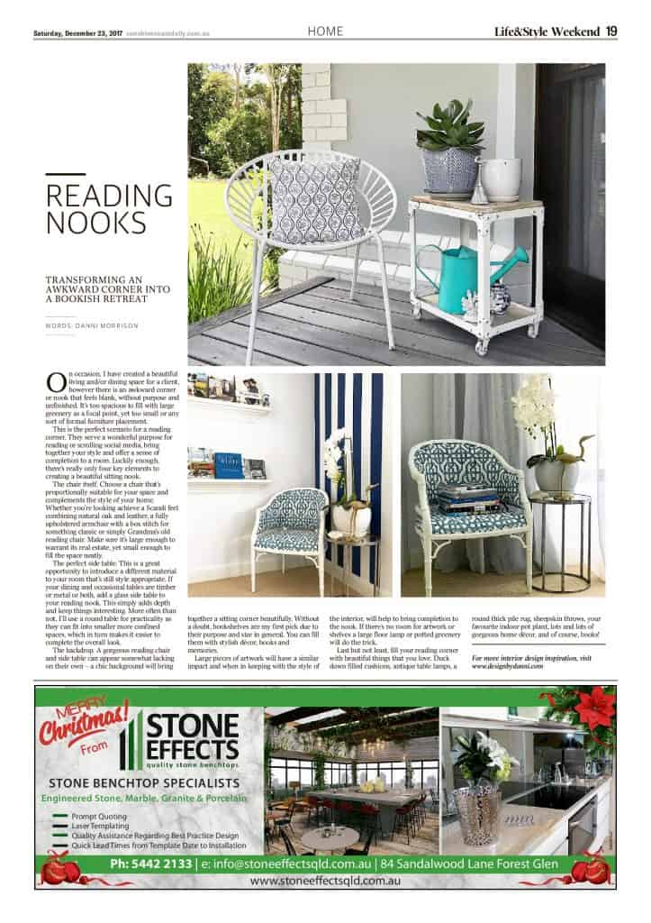 The Sunshine Coast Daily weekend edition Life and Style magazine - Reading Nooks