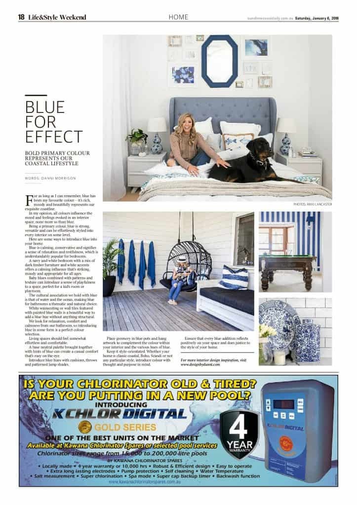 The Sunshine Coast Daily weekend edition Life and Style magazine - Blue for Effect