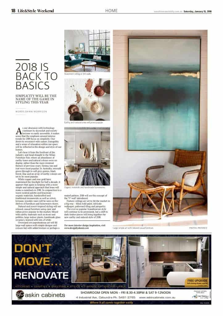 The Sunshine Coast Daily weekend edition Life and Style magazine - 2018 Back to Basics
