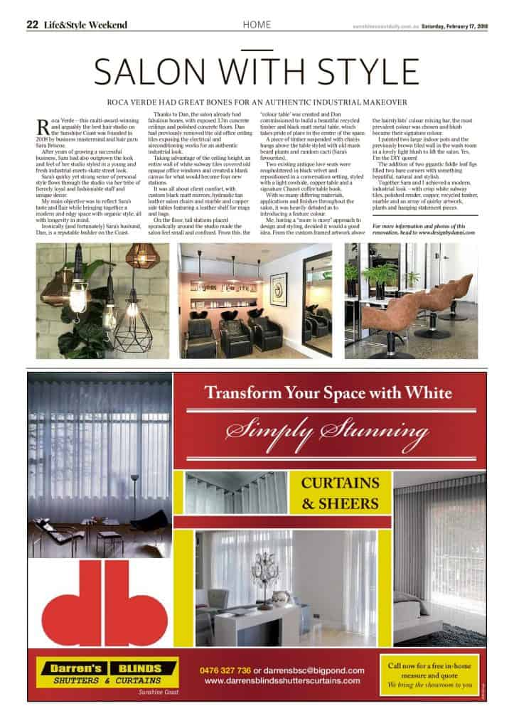 The Sunshine Coast Daily weekend edition Life and Style magazine - Salon with Style