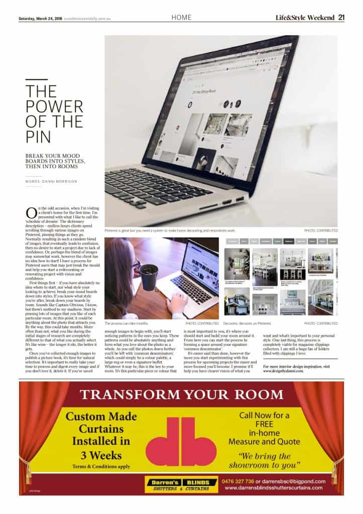 The Sunshine Coast Daily weekend edition Life and Style magazine - The Power of the Pin