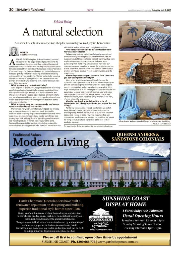 a natural selection - ethical living press features sunshine coast daily article