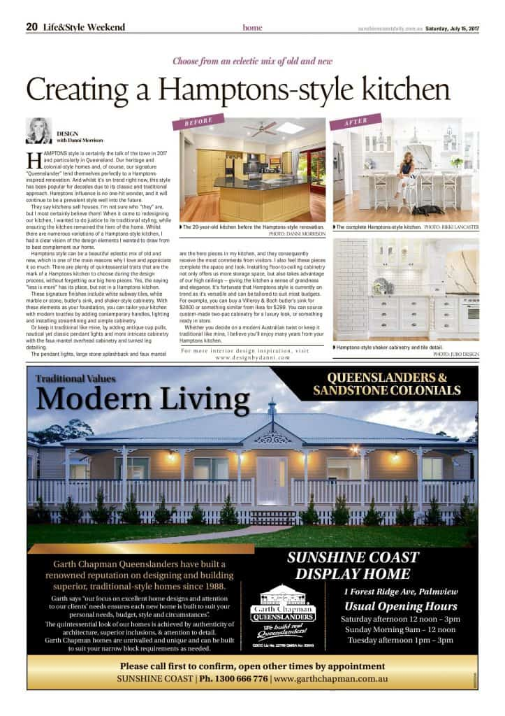 creating a hamptons style kitchen press features sunshine coast daily article
