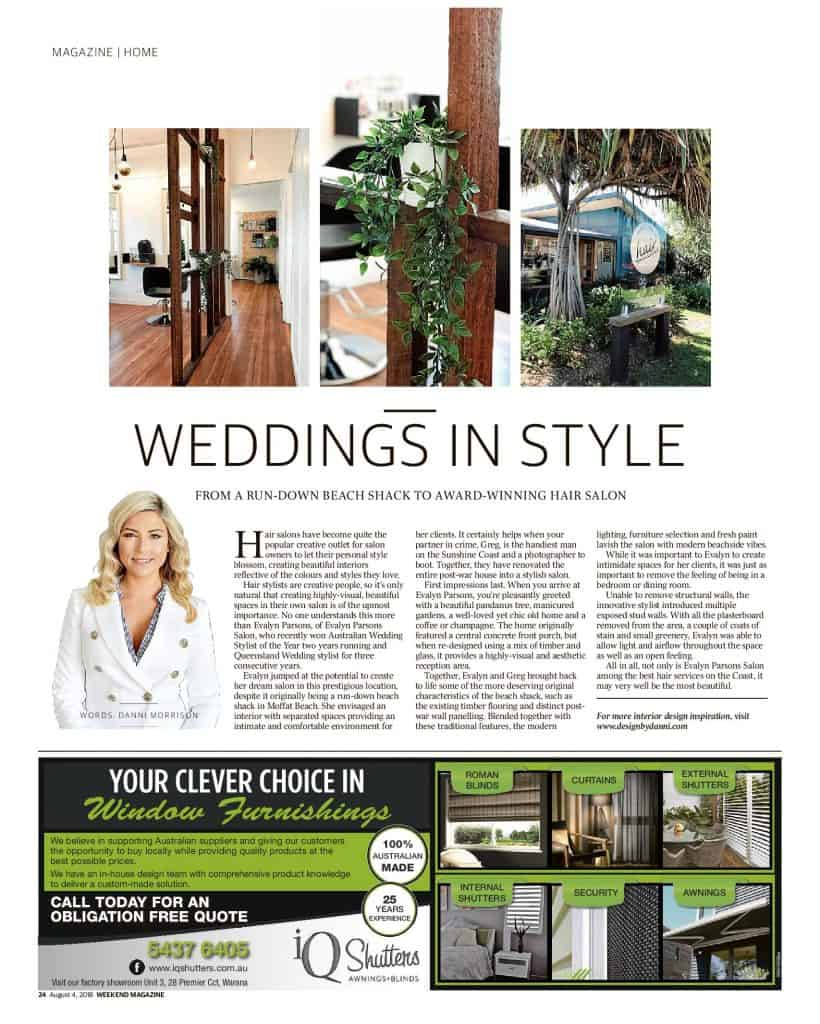 The Sunshine Coast Daily weekend edition Life and Style magazine - Weddings in Style