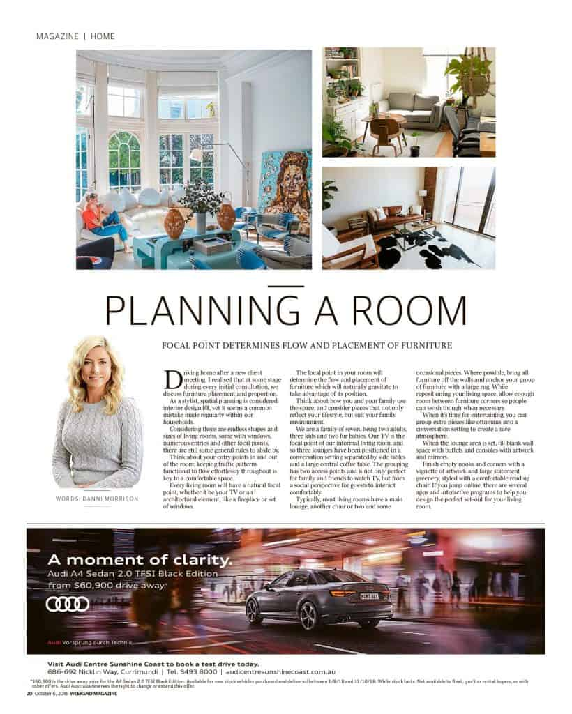 The Sunshine Coast Daily weekend edition Life and Style magazine - Planning a Room