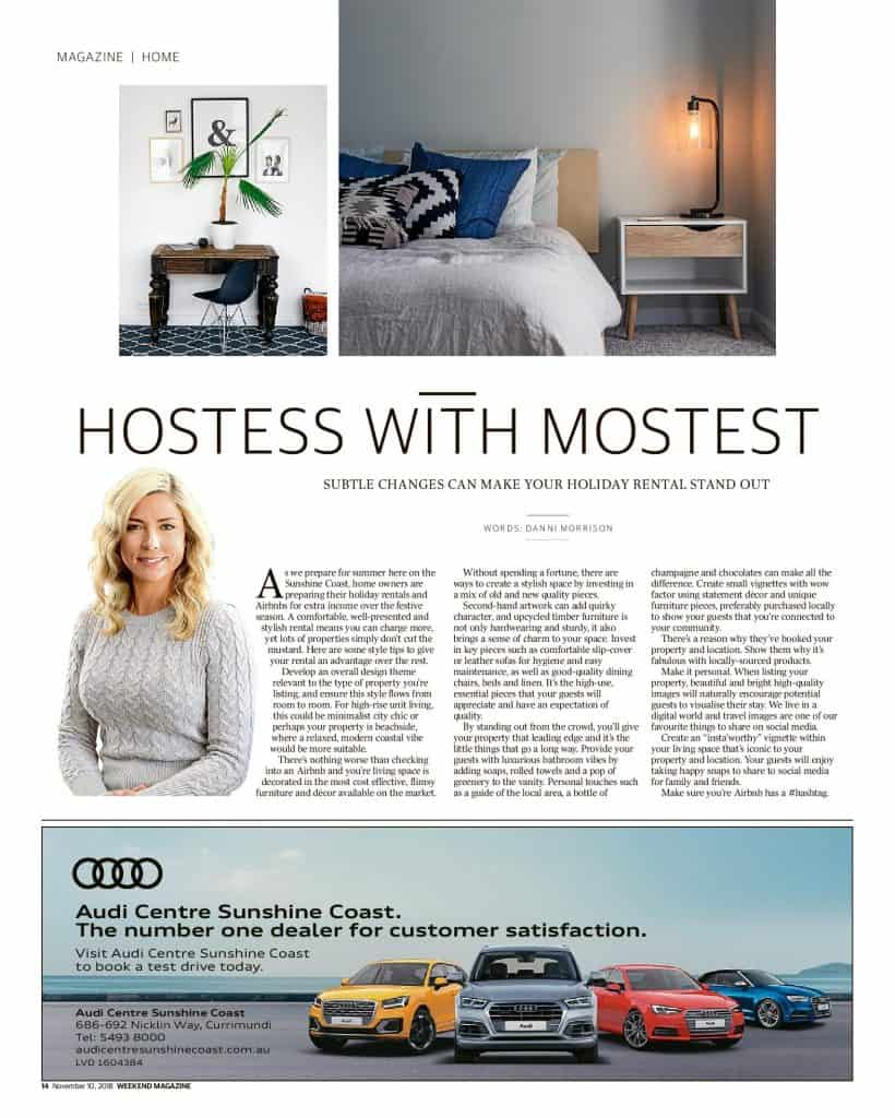 The Sunshine Coast Daily weekend edition Life and Style magazine - Hostess with Mostest