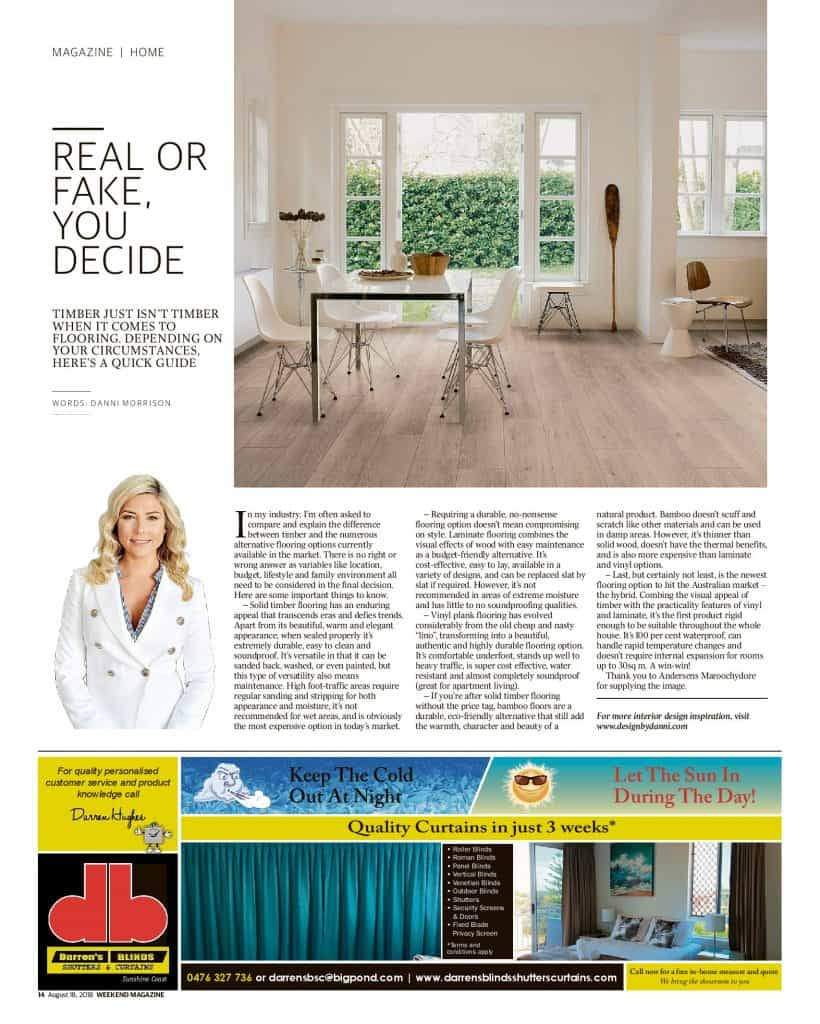 The Sunshine Coast Daily weekend edition Life and Style magazine - real or fake, you decide