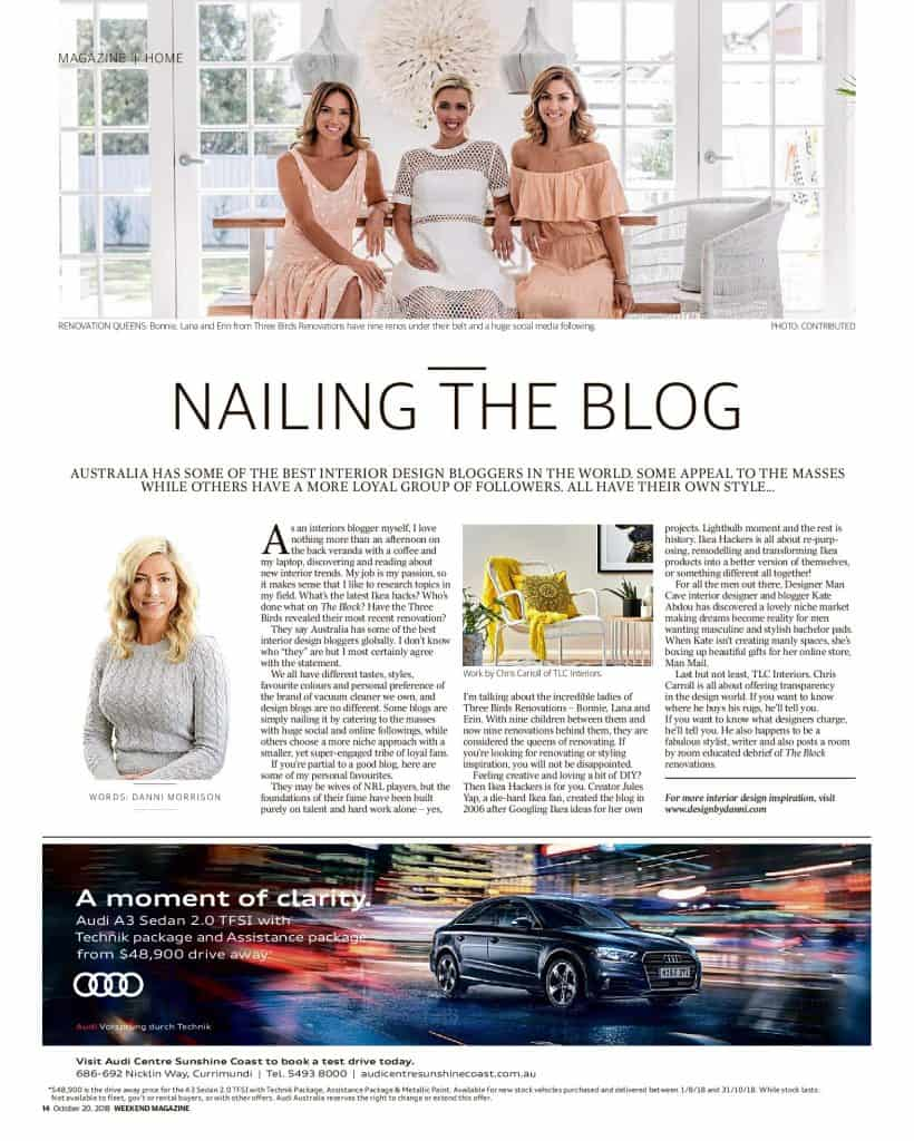 The Sunshine Coast Daily weekend edition Life and Style magazine - Nailing the blog