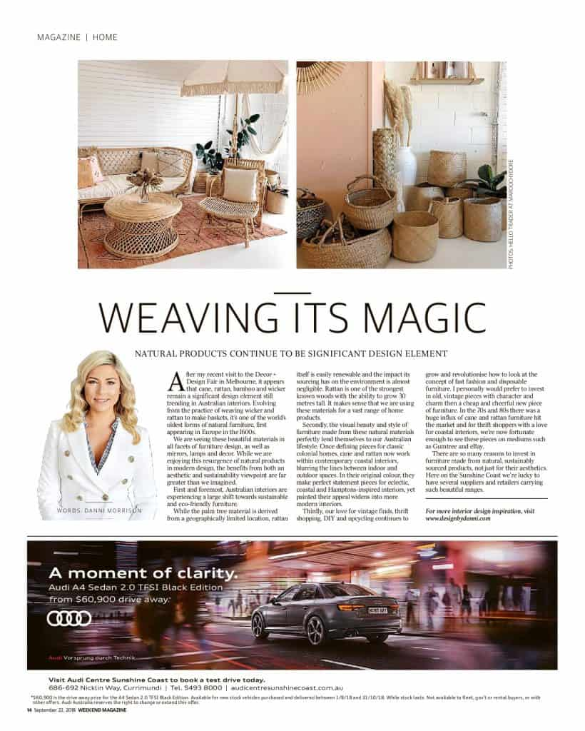 The Sunshine Coast Daily weekend edition Life and Style magazine - Weaving its magic