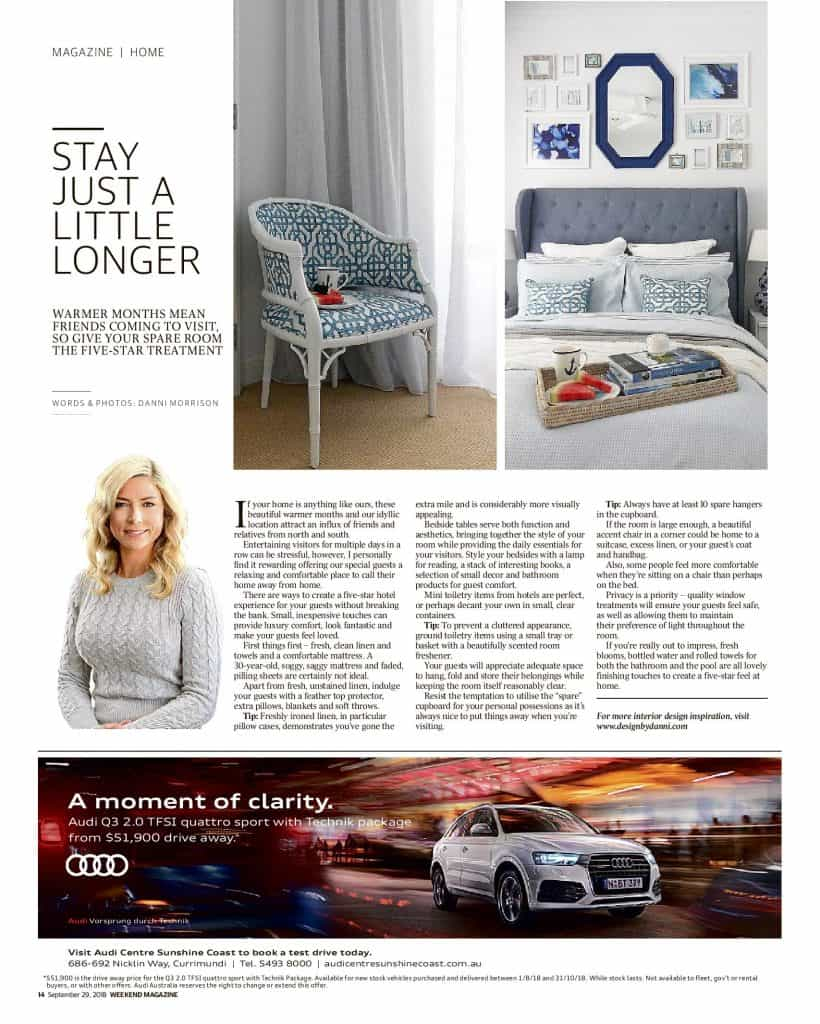 The Sunshine Coast Daily weekend edition Life and Style magazine - Just stay a little longer