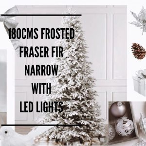 Balsalm Hill Christmas Home Tour 180cms Frosted Fraser Narrow with LED lights